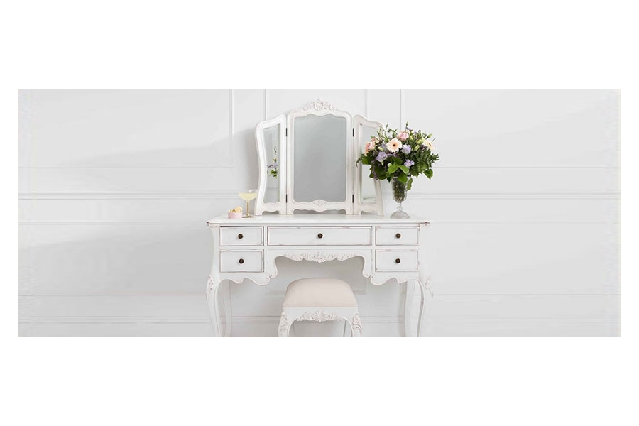 The importance of Dressing table with mirror and stool